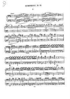 Symphony No.16 in B Flat Major, Hob.I/16: para piano de quadro mãos by Joseph Haydn