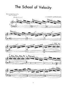 School of Velocity, Op.299: Exercises No.1-20 by Carl Czerny