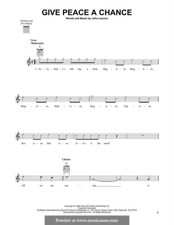 Give Peace a Chance: Para Guitarra by John Lennon, Paul McCartney