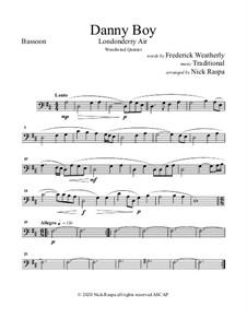 Ensemble version: For woodwind quintet - bassoon part by folklore