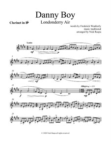 Danny Boy (Londonderry Air): For woodwind quintet - B Flat clarinet part by folklore
