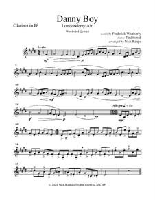 Ensemble version: For woodwind quintet - B Flat clarinet part by folklore