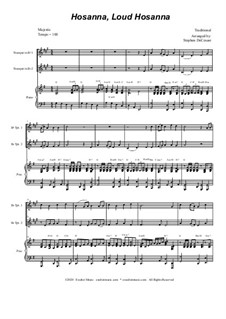 Hosanna, Loud Hosanna: Duet for Bb-trumpet - piano accompaniment by Unknown (works before 1850)