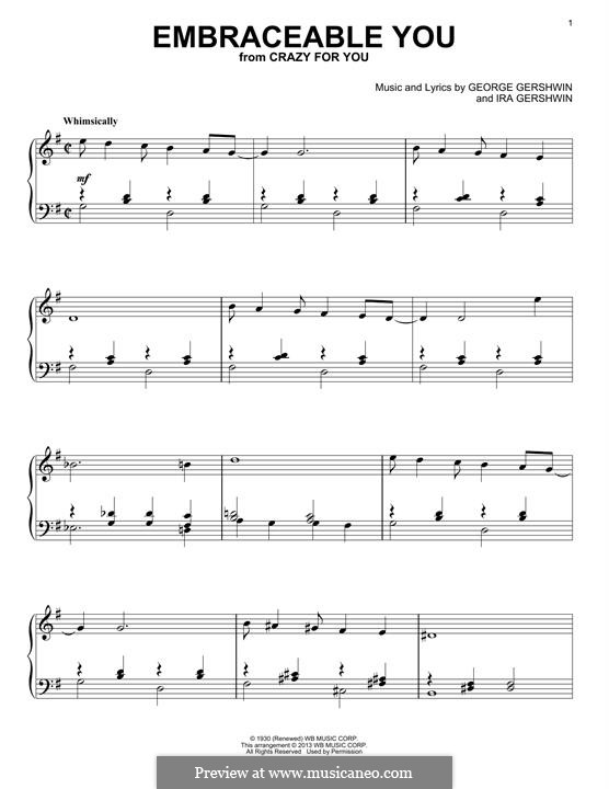 Embraceable You: Para Piano by George Gershwin