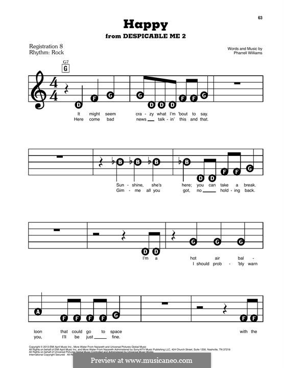 Piano-vocal version: melodia by Pharrell Williams
