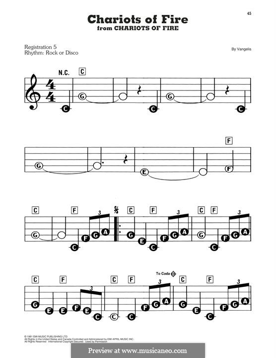 Chariots of Fire: Facil para o piano by Vangelis