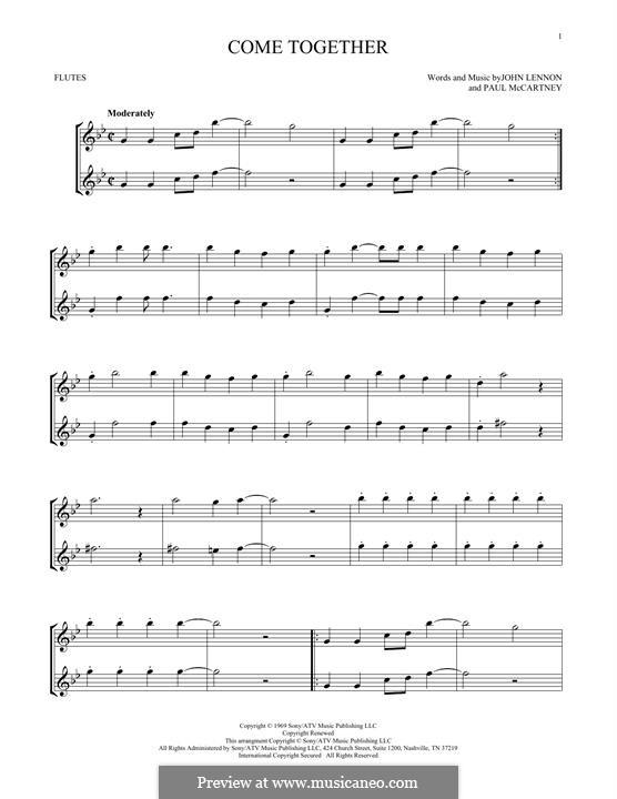 Come Together (The Beatles): para duas flautas by John Lennon, Paul McCartney