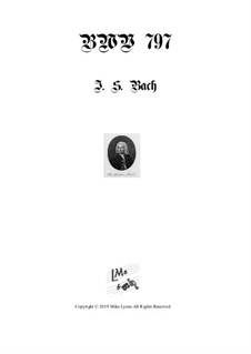 No.11 in G Minor, BWV 797: para quarteto de clarinete by Johann Sebastian Bach
