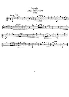 Largo in F Major for Flute and Piano: parte flauta by Benedetto Marcello