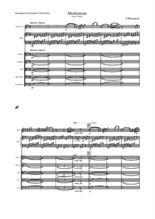 Meditation: For violin and orchestra by Jules Massenet
