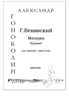 Kujawiak: For violin and orchestra by Henryk Wieniawski