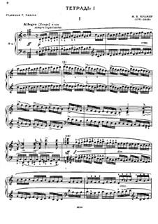 Sixty Etudes: Estudo No.1 by Johann Baptist Cramer