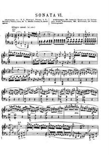 Sonata for Piano No.2 in F Major, K.280: para um único musico (Editado por H. Bulow) by Wolfgang Amadeus Mozart