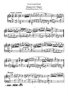 Sonata for Piano No.2 in C Major, Hob.XVI/7: para um único musico (Editado por H. Bulow) by Joseph Haydn