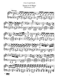 Sonata for Piano No.30 in D Major, Hob.XVI/19: para um único musico (Editado por H. Bulow) by Joseph Haydn