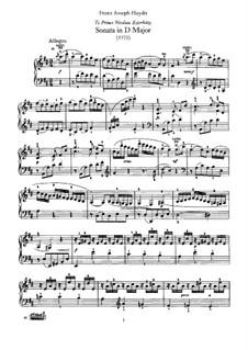Sonata for Piano No.39 in D Major, Hob.XVI/24: para um único musico (Editado por H. Bulow) by Joseph Haydn