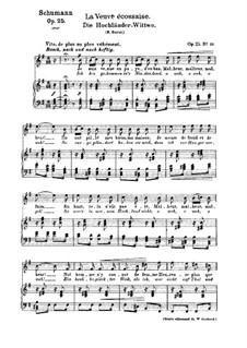 No.10 Die Hochländer-Witwe (Highland Widow's): Partitura piano-vocal (textos em francês e alemão) by Robert Schumann