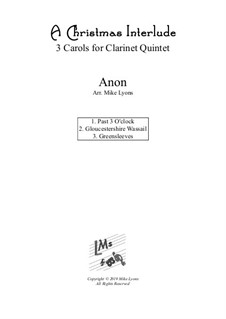 Christmas interlude: For clarinet quintet by folklore