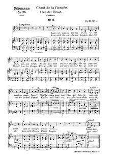 No.12 Lied der Braut (Bride's Song): Partitura piano-vocal (textos em francês e alemão) by Robert Schumann