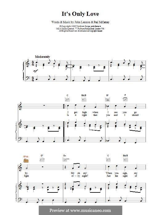 It Won't Be Long (The Beatles): Para vocais e piano (ou Guitarra) by John Lennon, Paul McCartney