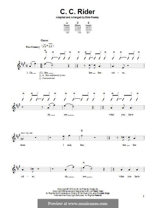 C.C. Rider: Para Guitarra by folklore