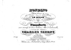 Rondino on Themes from 'Le maçon' by Auber, Op.127: parte piano by Carl Czerny
