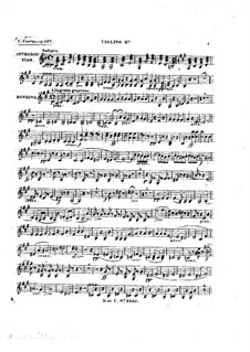Rondino on Themes from 'Le maçon' by Auber, Op.127: violino parte II by Carl Czerny