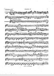 Rondino on Themes from 'Le maçon' by Auber, Op.127: violino parte I by Carl Czerny