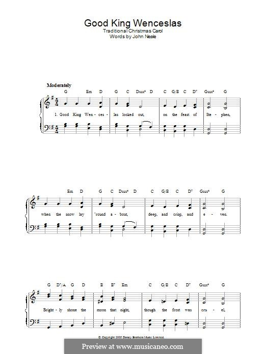 Good King Wenceslas: Para Piano by folklore