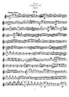 Duets for Two Flutes: flauta parte I by Wolfgang Amadeus Mozart