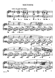 Nocturne in C Sharp Minor, B.49 KK IVa/16: para piano (com dedilhado) by Frédéric Chopin