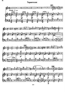 Concert Suite for Violin and Orchestra, Op.28: Tarantelle by Sergei Taneyev