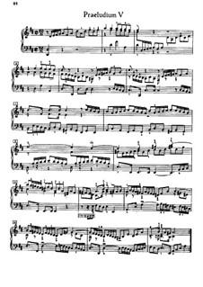 Prelude and Fugue No.5 in D Major, BWV 874: Para Piano by Johann Sebastian Bach
