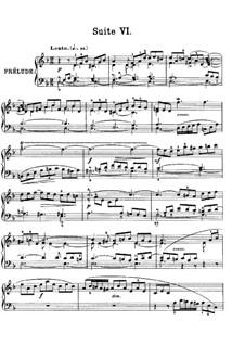 Suite No.6 in D Minor, BWV 811: Para Piano by Johann Sebastian Bach