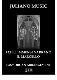 I cieli immensi narrano: For easy organ - C version by Benedetto Marcello