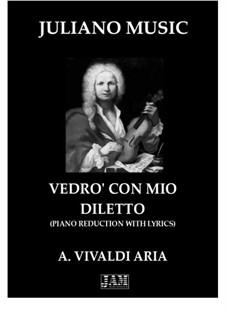 Il Giustino. Aria 'Vedrò con mio diletto': Piano reduction with lyrics by Antonio Vivaldi