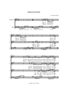 Silent Night (Downloadable): para coro misto by Franz Xaver Gruber