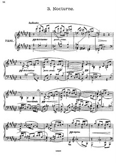 Four Pieces for Piano, Op.12: No.3 Nocturne by Georgy Catoire