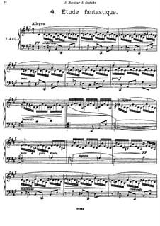 Four Pieces for Piano, Op.12: No.4 Etude fantastique by Georgy Catoire