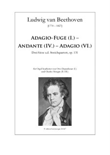 String Quartet No.14 in C Sharp Minor, Op.131: versão para Orgão by Ludwig van Beethoven
