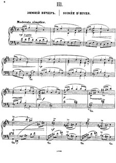 Three Pieces for Piano, Op.2: No.3 Soirée d'hiver by Georgy Catoire