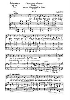 No.6 Setze mir nicht, du Grobian (Chansons à boire): Partitura piano-vocal (textos em francês e alemão) by Robert Schumann