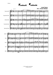 Funiculi, Funicula: For recorder quintet by Luigi Denza