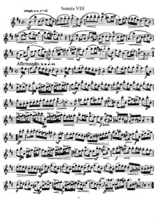 Sonata No.8 : parte Solo by Johann Mattheson