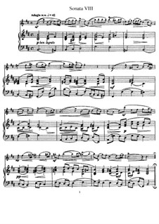 Sonata No.8 : versão para flauta e piano by Johann Mattheson