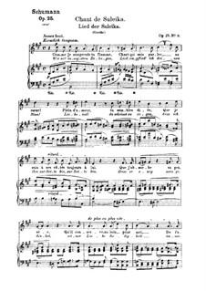 No.9 Lied der Suleika (Chant de Suleika): Partitura piano-vocal (textos em francês e alemão) by Robert Schumann