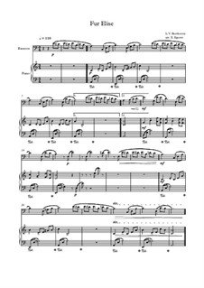 For Elise, WoO 59: For bassoon and piano (thema) by Ludwig van Beethoven