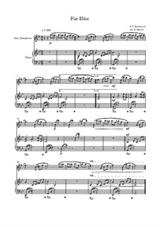For Elise, WoO 59: For alto saxophone and piano (thema) by Ludwig van Beethoven