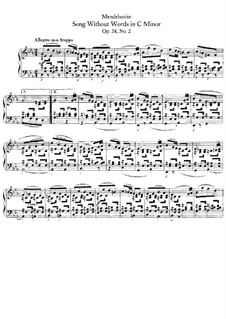 Songs without Words, Op.38: No.2 Allegro non troppo by Felix Mendelssohn-Bartholdy