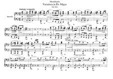 Andante and Variations, Op.83a: para piano de quadro mãos by Felix Mendelssohn-Bartholdy
